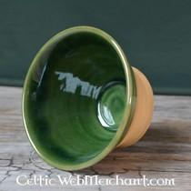 50x skóra nappa w kształcie tarczy na kawałek pancerza skalę, zielony