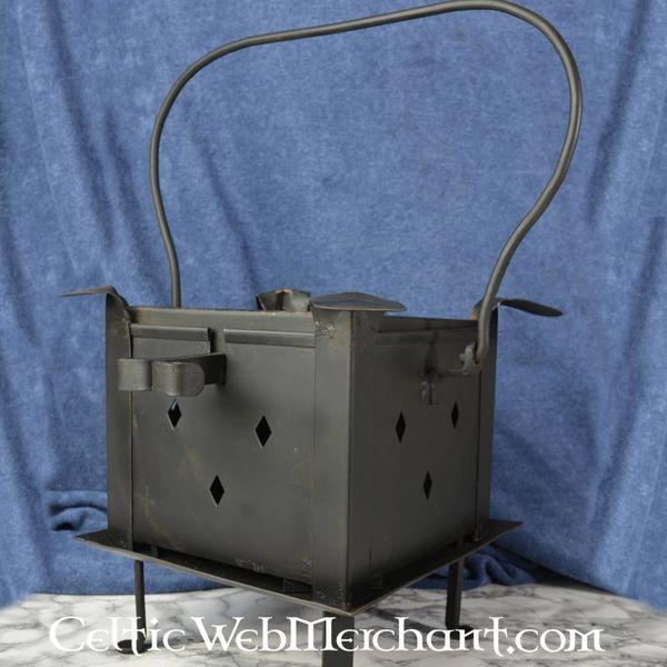 Plaque de protection avec grille et table de cuisson