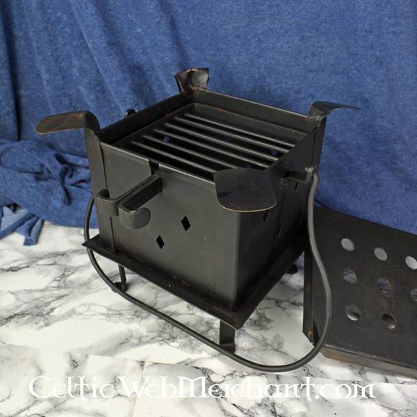 Fireplate med grill og kogeplader
