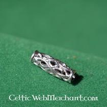 Long Viking beard bead silver