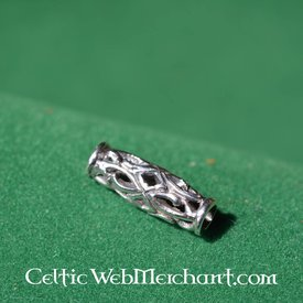 Long Viking beardbead silver