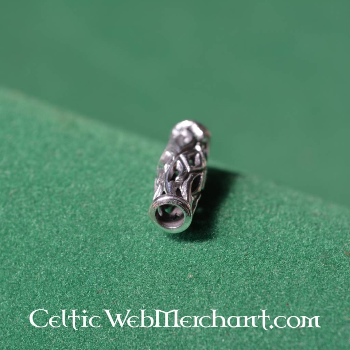 Lange Viking Bart Perle Silber