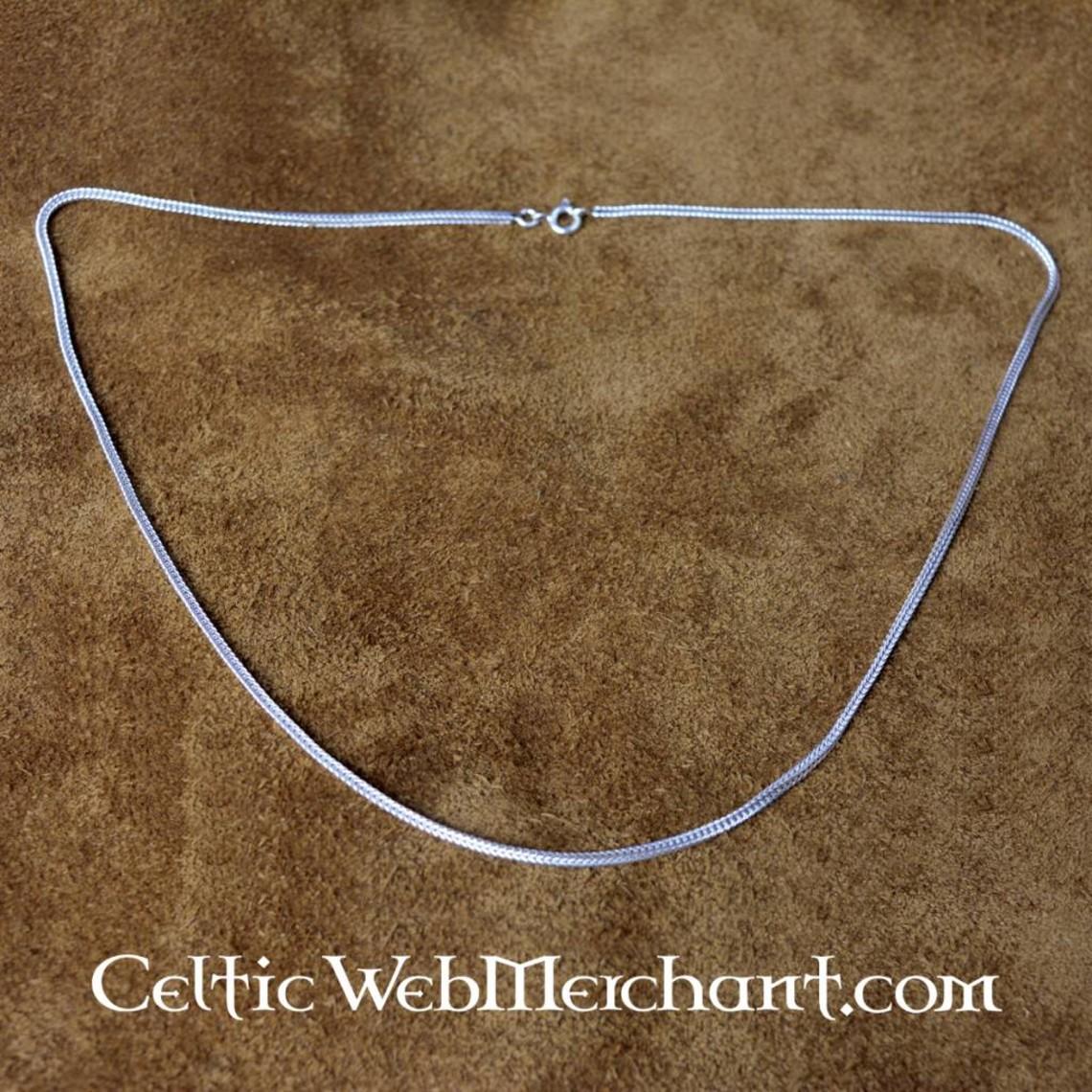 Srebra skręcone naszyjnik 50 cm