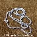 Collar de plata trenzado, 50 cm