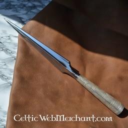 Viking Throwing Spearhead, ornate socket