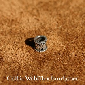 Medieval hair & beard bead silver