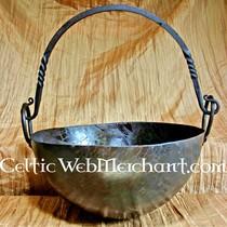 Zawieszka Celtic prostokątny motyw węzeł, posrebrzane