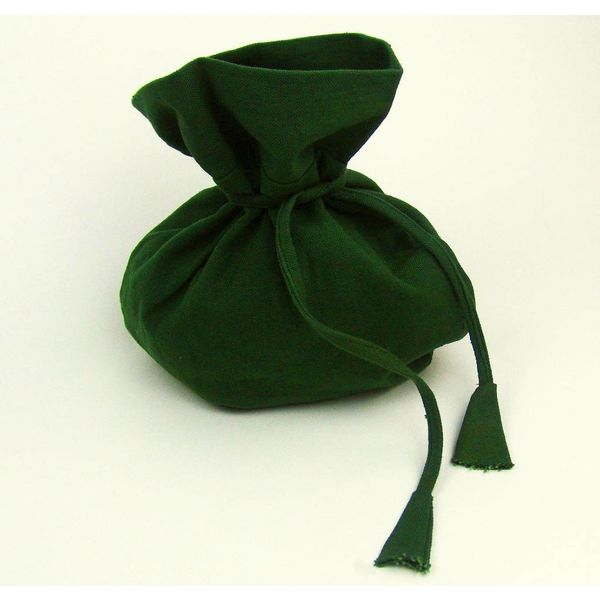 woreczek pieniądze zielony