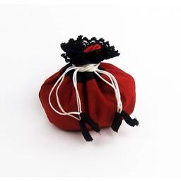 Money pouch Lynette, red-black
