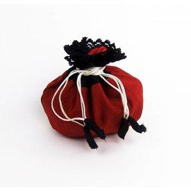 woreczek pieniądze Lynette, czerwono-czarny