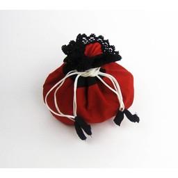 bolsa de dinero Lynette, rojo-negro