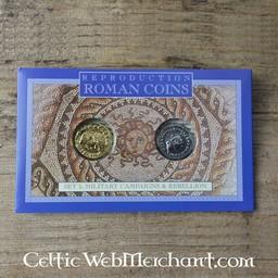 Roman opakowań monety celtyckie bunty