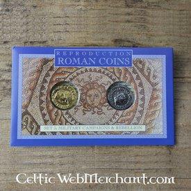 Romerska mynt pack Celtic uppror