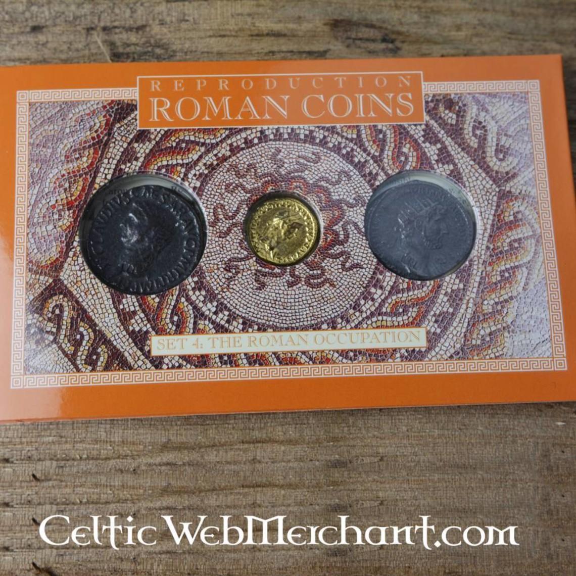 Roman paczka moneta okupacja Brytanii