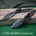 Ulfberth Ręcznie kuta Viking skrzynia zawiasy, para (18 cm)