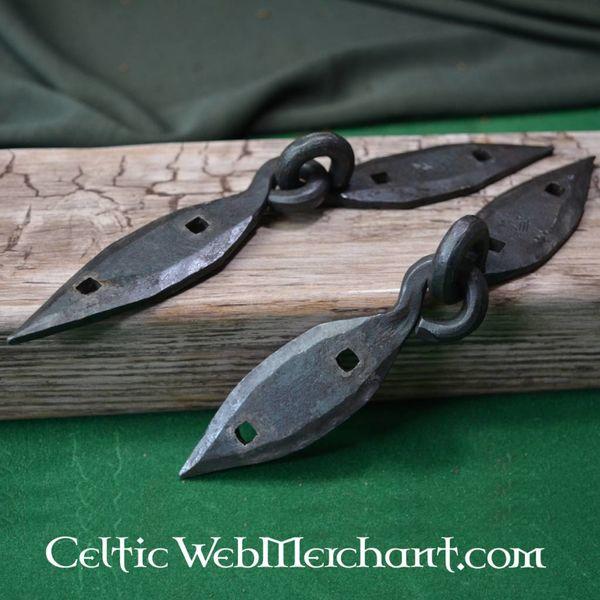 Ulfberth Håndsmedet Viking bryst hængsler, par (18 cm)
