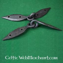 Handgeschmiedeten Viking Brust Scharniere, Paar (18 cm)