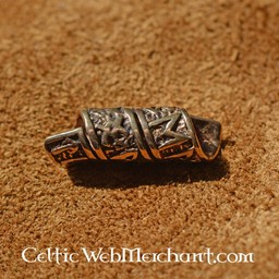 Bronzo beardbead con iscrizioni runiche