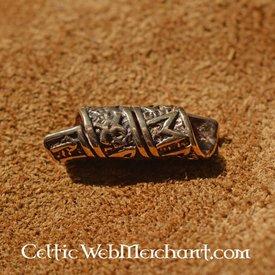 Bronze beardbead med runeindskrifter