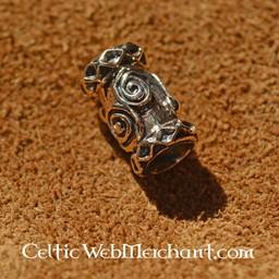 Viking beard bead bronze
