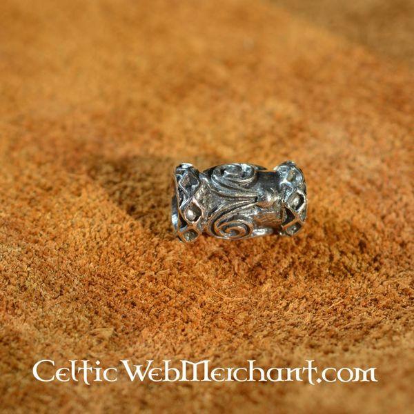 Silver Viking beard bead