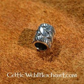 Silver beardbead med Celtic knut