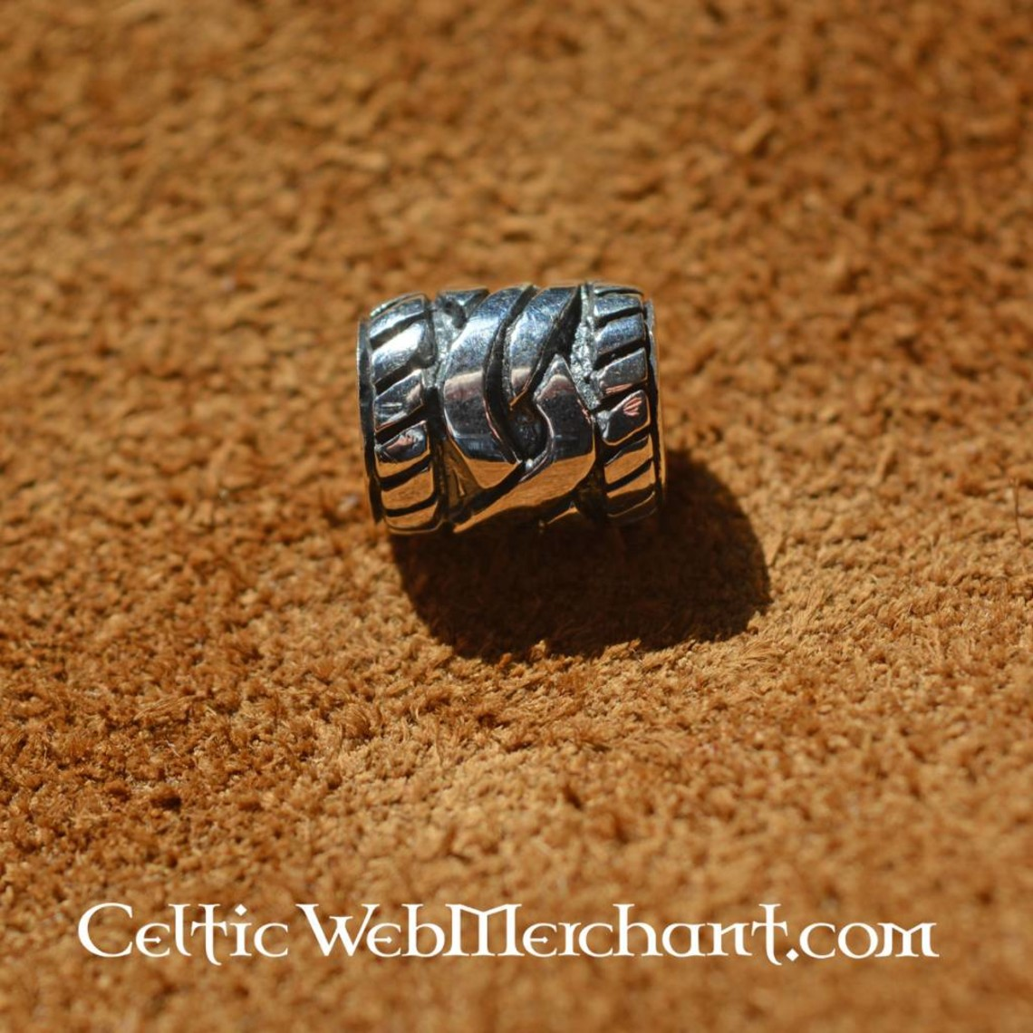 Zilveren baardkraal met Keltische knoop