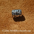 Silver beard bead with Celtic knot