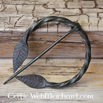 Celtic utility knife with hand-forged grip