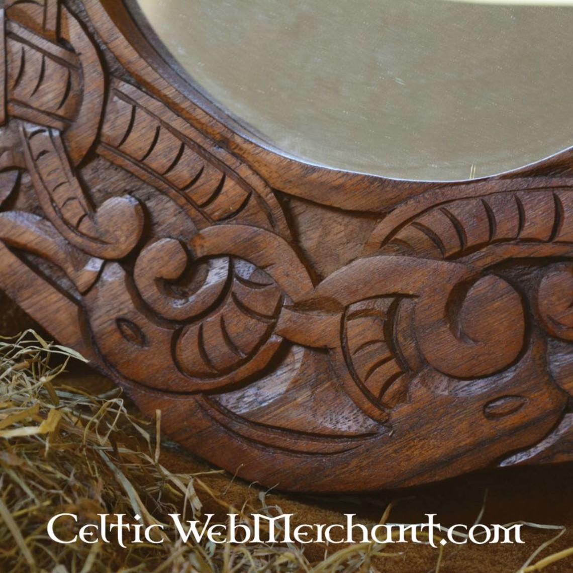 styl Urnes Viking lustro