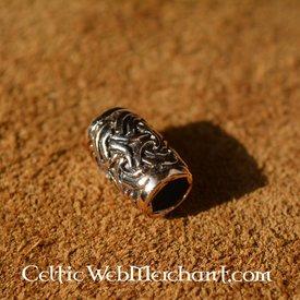 Brons beardbead med Celtic knut