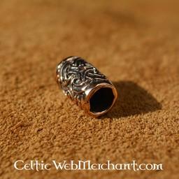 Brązowy broda zgrubienie celtyckich węzeł