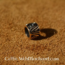 Medieval hair & beard bead bronze
