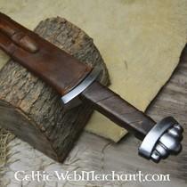 Borre styl miecz chape klejnot, posrebrzane