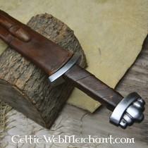 Borre viking belt, black, silvered