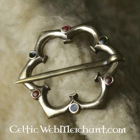 Gothic quatrefoil brosch