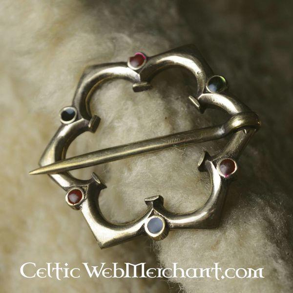 Gothic Quatrefoil broszka