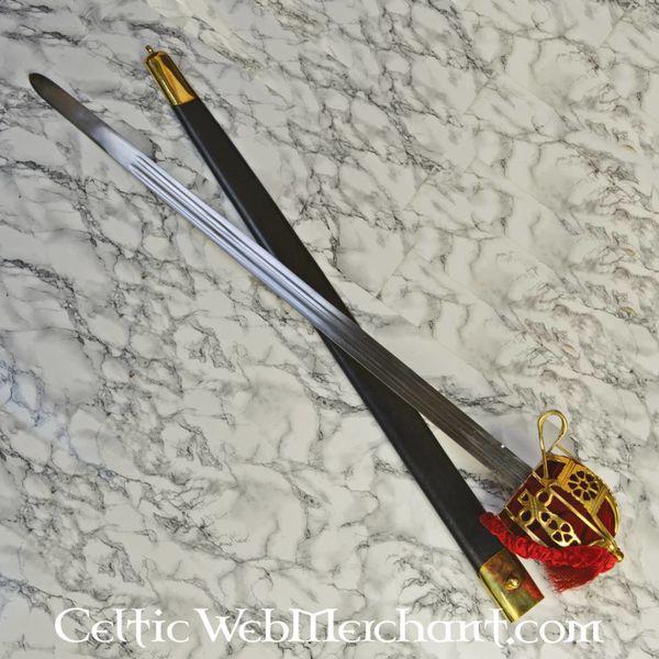 Deepeeka Epée Broadsword à garde en panier, 1828