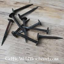 cuchillo de caza histórico, acero de Damasco