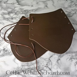 Leather vambrace, 20 cm, black