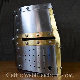 Deepeeka cavaleiro capacete templar com cruz de bronze