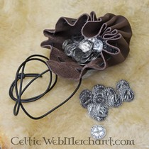 Amulet round Celtic knot, silvered