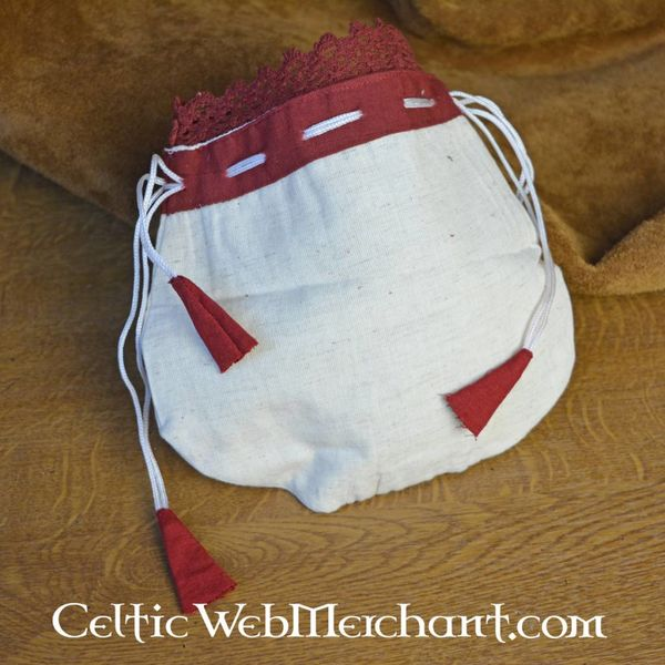 Money pouch Lynette, red-white
