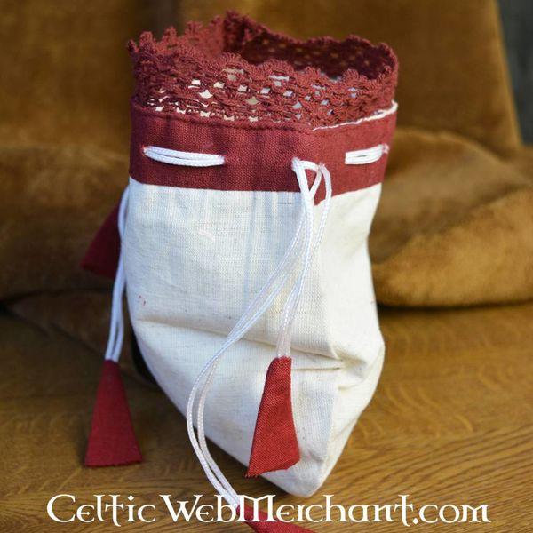 bolsa de dinheiro Lynette, vermelho-branco