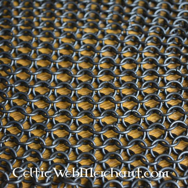 pedaço quadrado de cota de malha, bronzeado, 8 milímetros