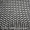 Kwadratowy kawałek kolczugi, opalony, 8 mm