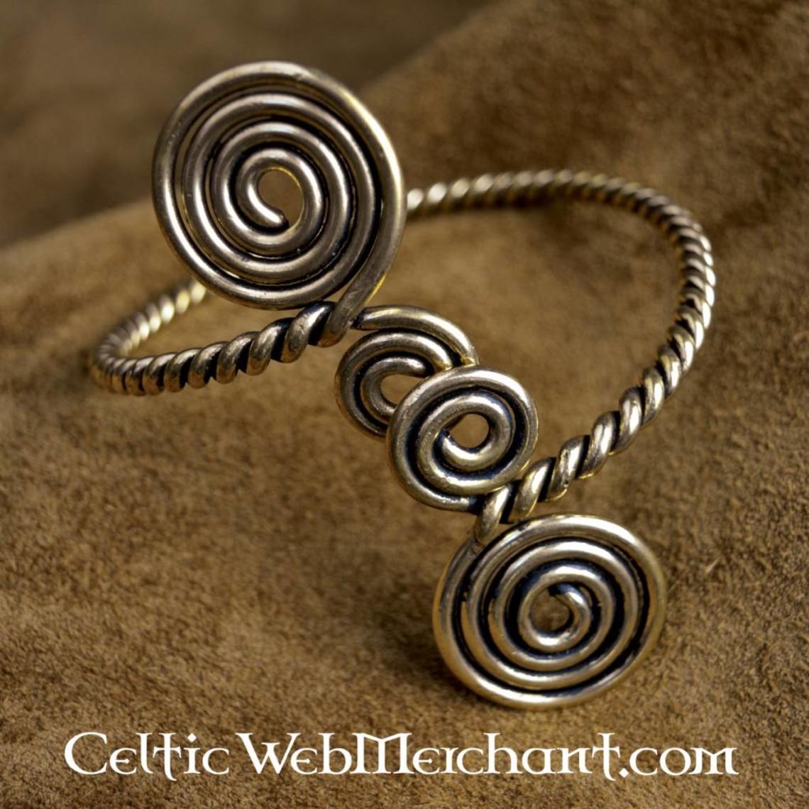 Keltische bovenarmband met spiralen