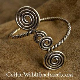 Celtica braccialetto superiore del braccio con spirali