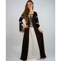 Vestito Eleanora marrone-bianco