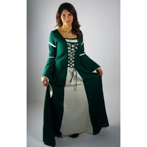 Dress Eleanora green-white